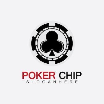 Ikona żetonu kasyna, logo wektor ikona żetonu pokera, żetony w kasynie do pokera lub ruletki. ilustracja wektorowa na białym tle.