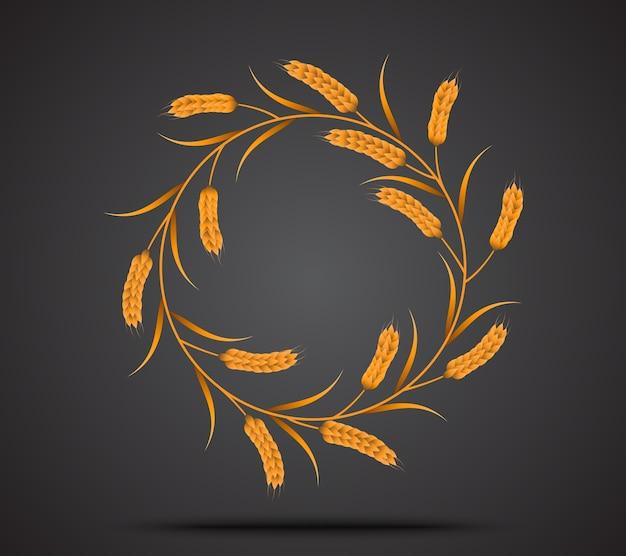 Ikona złota pszenicy