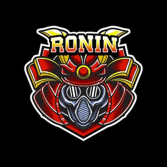 Ikona znaku samuraja logo esport