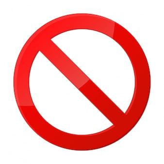 Ikona znaku stop powiadomienia, które nic nie robią.