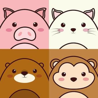 Ikona zwierząt kawaii