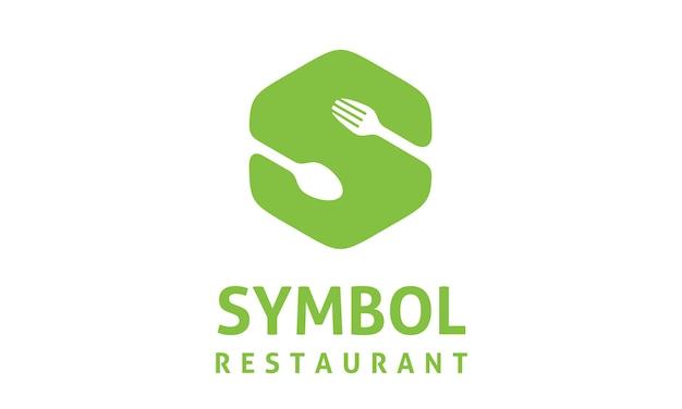 Ikona żywności initial s logo design