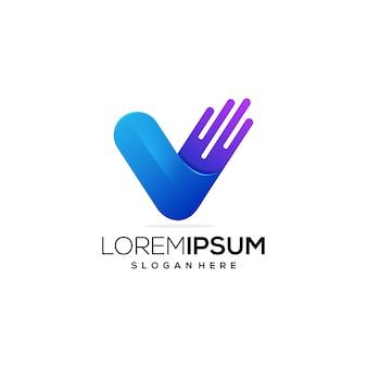 Ikonka logo litery v.
