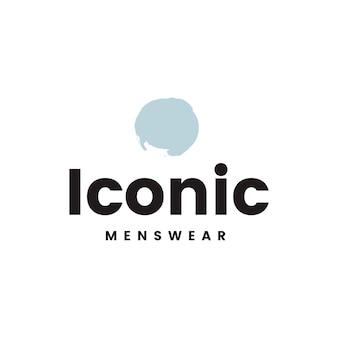 Ikonowy wektor logo projektowania odzieży męskiej