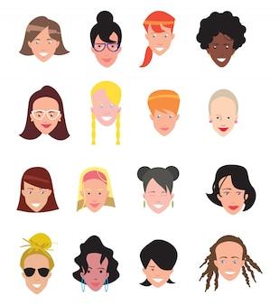 Ikony awatarów kobiet