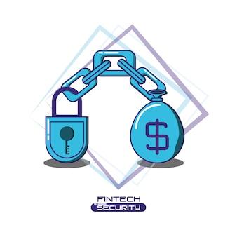 Ikony bezpieczeństwa technologii finansowej