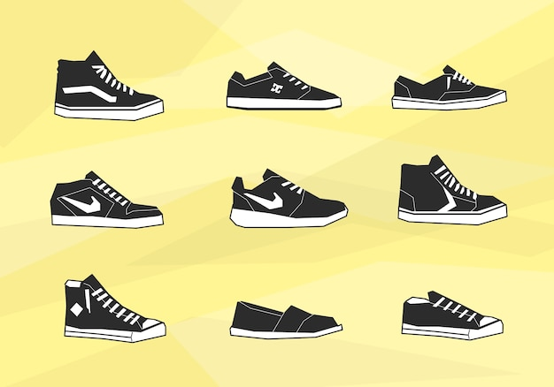 Ikony butów męskich