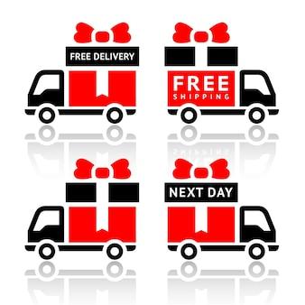 Ikony ciężarówki dostawy