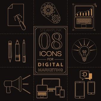 Ikony dla marketingu cyfrowego