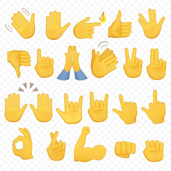 Ikony dłoni gestów emoji