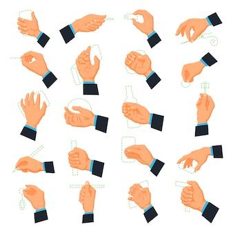 Ikony dłoni mężczyzn