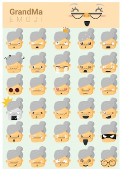 Ikony emoji babci