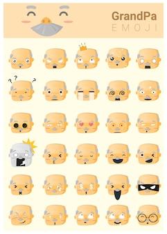 Ikony emoji dziadka