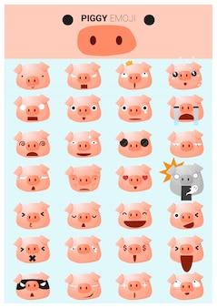 Ikony emoji piggy