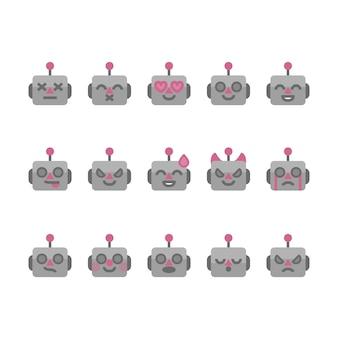 Ikony emotikonów robota