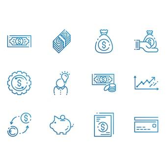 Ikony finansów i pieniędzy