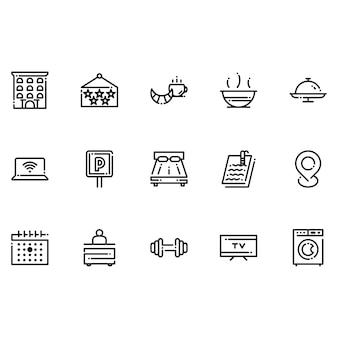 Ikony hoteli i domów