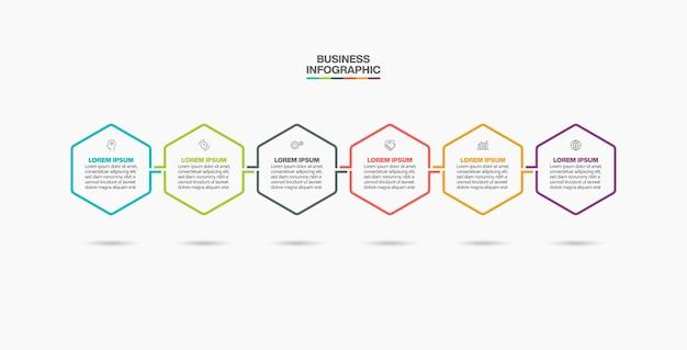 Ikony infographic osi czasu wizualizacji danych biznesowych
