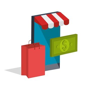 Ikony izometryczne handlu elektronicznego