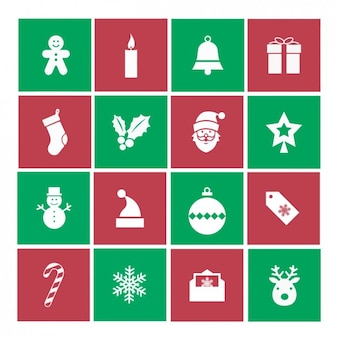 Ikony kolekcja christmas
