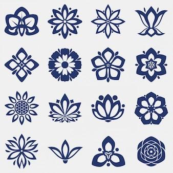 Ikony kolekcja kwiat