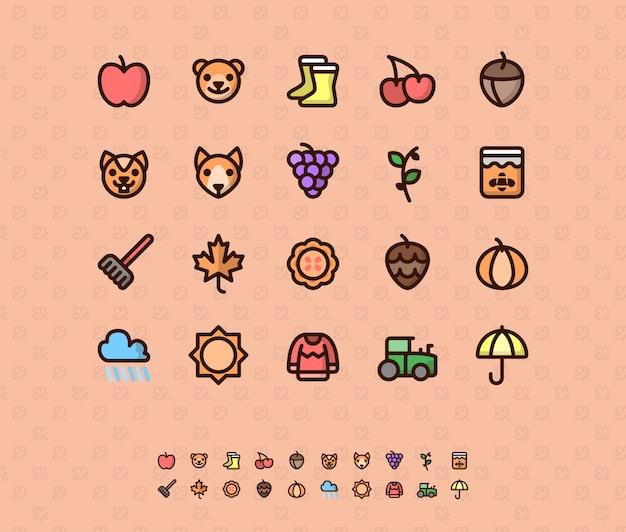 Ikony kolorów jesieni