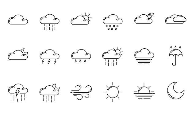 Ikony konspektu pogody