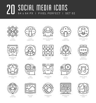 Ikony konspektu ustawiają symbole mediów społecznościowych