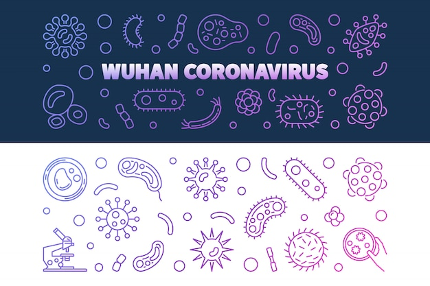 Ikony konspektu wuhan coronavirus