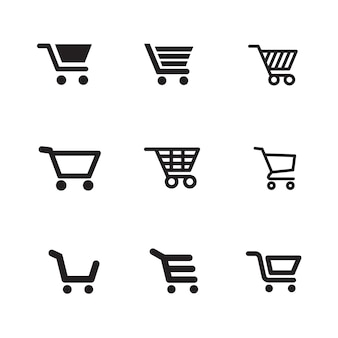 Ikony koszyka na zakupy