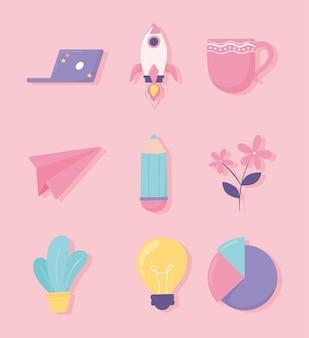 Ikony kreatywności startupów