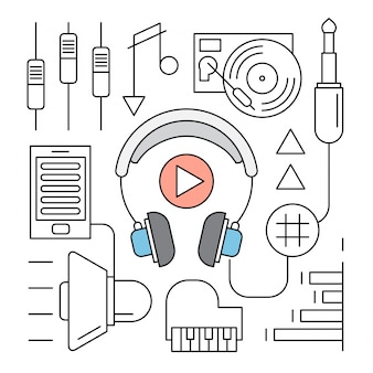 Ikony książek audio linear