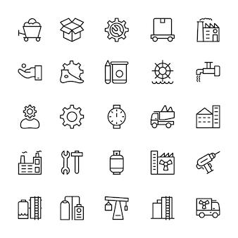 Ikony linii przemysłowych