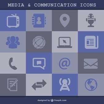 Ikony mediów i komunikacji