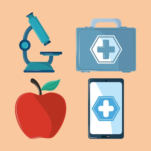 Ikony Medycyny Zdrowia Premium Wektorów