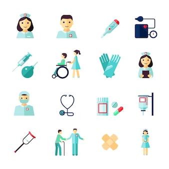 Ikony medyczne kolekcja