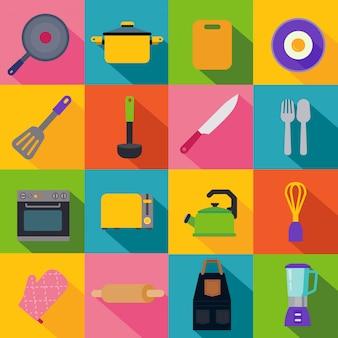 Ikony naczynia kuchenne