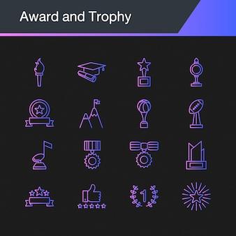 Ikony nagrody i trofeum