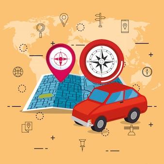Ikony nawigacji gps