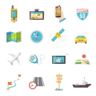 Ikony nawigacji płaskie