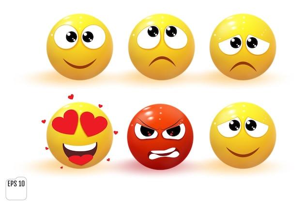 Ikony obiektów emoji.