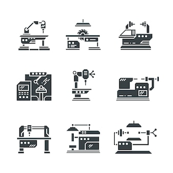 Ikony obrabiarek przemysłu stalowego