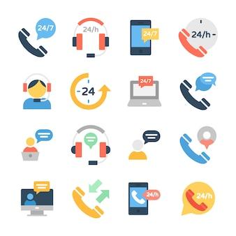Ikony obsługi klienta i obsługi klienta