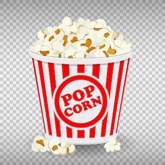 Ikony papierowa torba pełna popcornu.