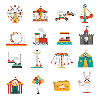 Ikony parku rozrywki