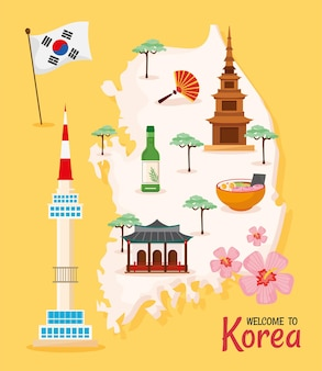 Ikony plakatu kultury koreańskiej