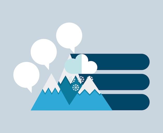 Ikony prezentacji górskich infographic