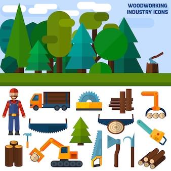 Ikony przemysłu drzewnego