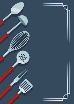 Ikony przybory kuchenne