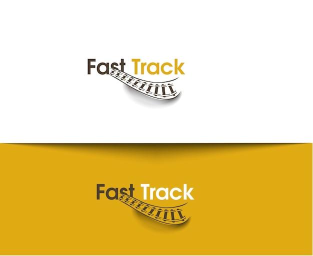 Ikony sieci fast track i logo wektorowe